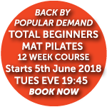 Pilates for Total Beginners starts 5th June 2018